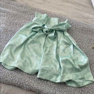 Silky paper bag shorts